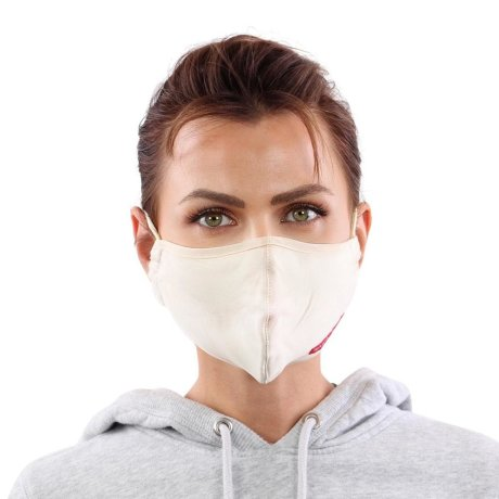 YOU`RE PROTECTED Community Nano Maske 3-Lagig unisex Beige 2 Stück