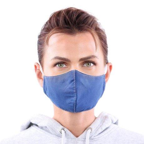 YOU`RE PROTECTED Community Thai Maske 2-Lagig unisex Blue Caro