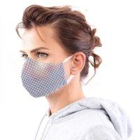 YOU`RE PROTECTED Community Thai Maske 2-Lagig unisex Blue-White Größe M