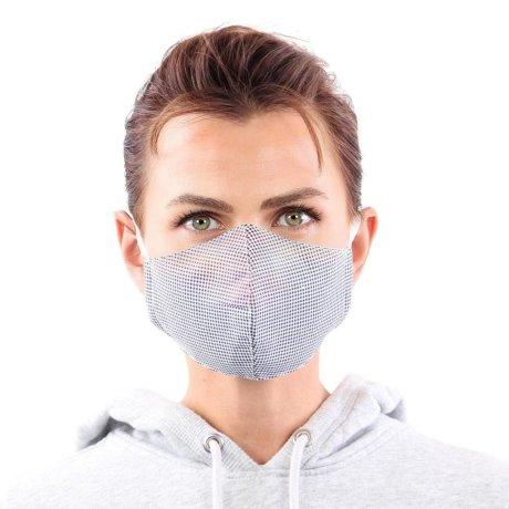 YOU`RE PROTECTED Community Thai Maske 2-Lagig unisex Blue-White Größe L