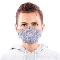 YOU`RE PROTECTED Community Thai Maske 2-Lagig unisex Pattern Blue-White Größe M