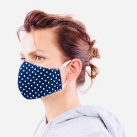 YOU`RE PROTECTED Community Thai Maske 2-Lagig unisex Dot Blue-White Größe L