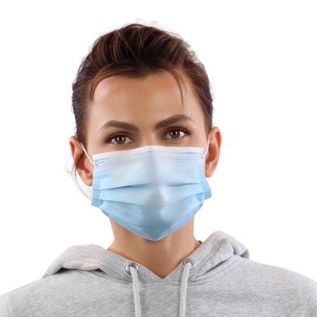 YOU`RE PROTECTED Community Einweg Maske 3-Lagig unisex Blau 10 Stück p.P