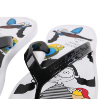 MARC BY MARC JACOBS Damen Toe Strap Sandale Zehensandale BIRD White Größe 37
