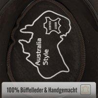 Black Forest Fox Herren Western Cowboy Rindsleder Hut JERO Größe S Braun
