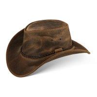 Black Forest Fox Herren Western Cowboy Rindsleder Hut JERO Größe M Vintage Braun