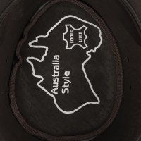 Black Forest Fox Herren Western Cowboy Rindsleder Hut JERO Größe L Braun
