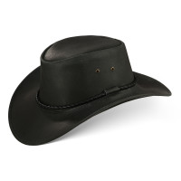 Black Forest Fox Herren Western Cowboy Rindsleder Hut JERO Größe XL Schwarz