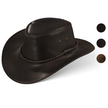 Black Forest Fox Herren Western Cowboy Rindsleder Hut JERO Größe XXL Braun