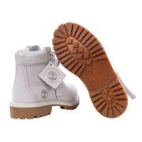 TIMBERLAND Kinder Stiefel Boots 6 Inch PREMIUM Hellgrau Nubuck Größe 31 wasserdicht