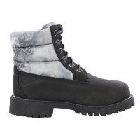 TIMBERLAND Kinder Winter Stiefel Boots 6 Inch Quilt Schwarz Nubuck Größe 31 wasserdicht