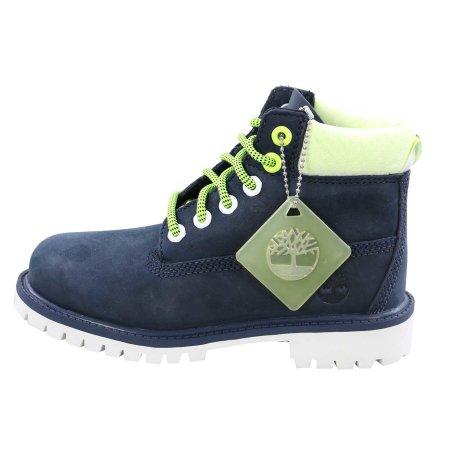 TIMBERLAND Kinder Stiefel Boots 6 Inch PREMIUM Blau Neon Nubuck Größe 31 wasserdicht