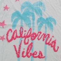 FROGBOX Damen T-Shirt CALIFORNIA VIBES in 2 Farben Blau XS (34)
