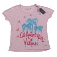 FROGBOX Damen T-Shirt CALIFORNIA VIBES in 2 Farben Rosa L (40)
