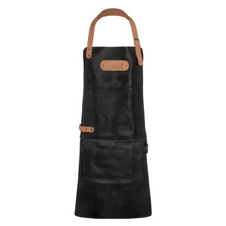 Black Forest Fox BARMAN Barista Cracker Leder Schürze Grillschürze und Arbeitsschürze Antik Schwarz