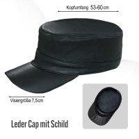 Black Forest Fox Herren Leder CUBA Cap Hut Schirmmütze in versch. Farben & Leder
