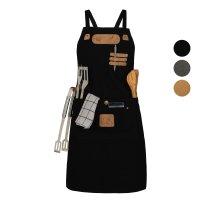 Black Forest Fox CANVAS Arbeitsschürze, Grillschürze BBQ Kochschürze ART & COMFORT in versch. Ausführungen