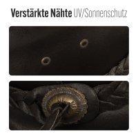 Black Forest Fox PERTH Unisex Western Cowboy Reiten Leder Sonnen Hut in Braun Größe XL