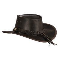 Black Forest Fox TEXAS Unisex Western Reiten Cowboy Leder Hut Horse Brown Größe S