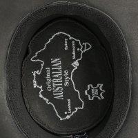 Black Forest Fox TEXAS Unisex Western Reiten Cowboy Leder Hut Black Größe M