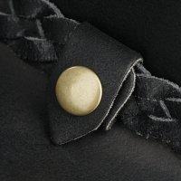 Black Forest Fox TEXAS Unisex Western Reiten Cowboy Leder Hut Black Größe L