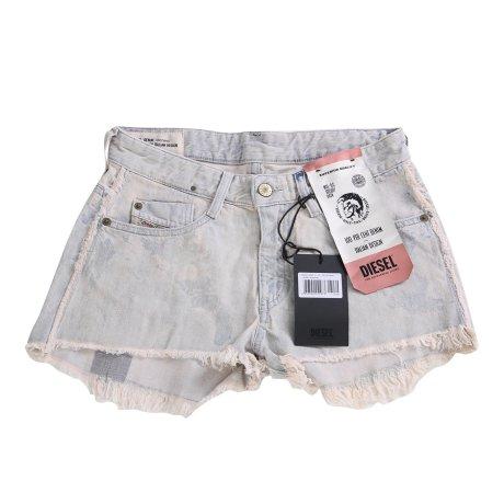 DIESEL Damen Denim Jeans Shorts DE-RIF Hellblau 0099P 2. Wahl Größe 25