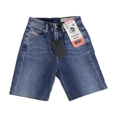 DIESEL Damen Stretch Denim Jeans Shorts D-EISELLE Blau 0098W 2. Wahl