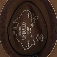 Black Forest Fox TEXAS Unisex Western Reiten Cowboy Leder Hut Vintage Brown Größe XXL