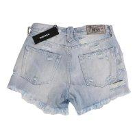 DIESEL Damen Denim Jeans Shorts DE-TELVE Hellblau R9U68...