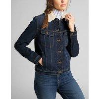 LEE JEANS Damen Winter Denim Jeans Jacke SHERPA RIDER...